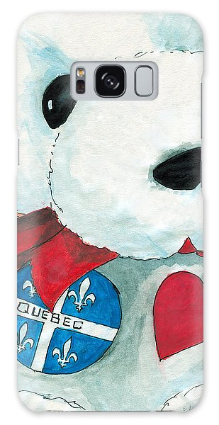 Heart Quebec Bear Galaxy Case