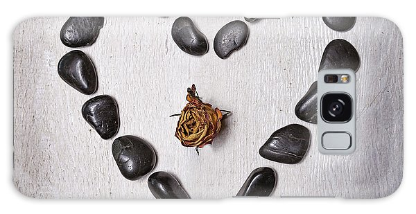 Heartache Galaxy Case - Heart With Rose by Joana Kruse
