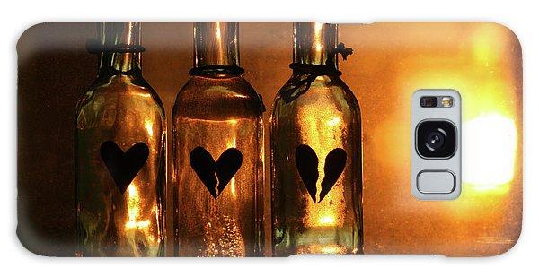 Heartache Galaxy Case - Heartache In A Bottle by Kerry Langel