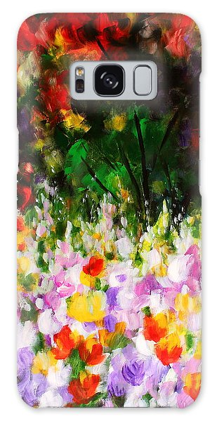 Heavenly Garden Galaxy Case by Kume Bryant
