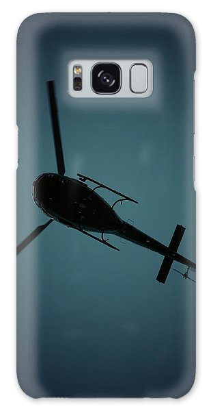 Helicopter Silhouette Galaxy Case