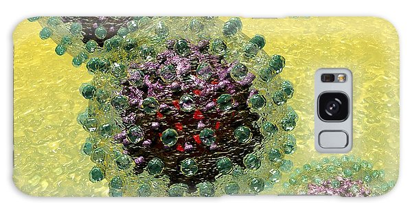 Galaxy Case featuring the digital art Hepatitis B Virus Particles by Russell Kightley