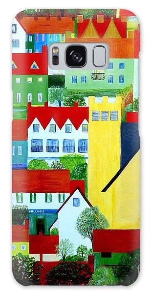Hillside Village Galaxy Case by Barbara Moignard