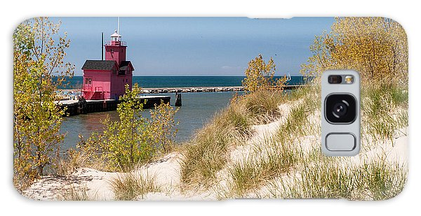Holland Mi Lighthouse Galaxy Case by Larry Carr