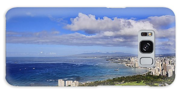 Honolulu From Diamond Head Galaxy Case
