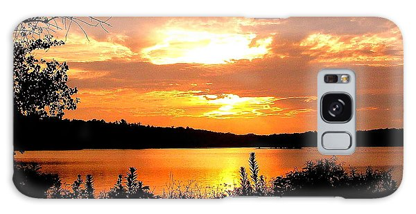 Horn Pond Sunset 2 Galaxy Case