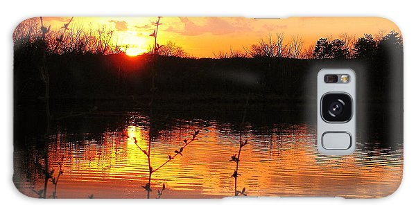 Horn Pond Sunset 8 Galaxy Case