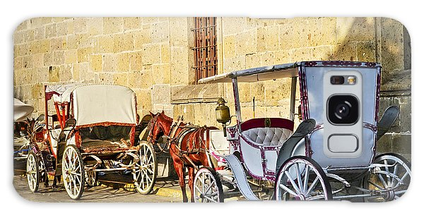 Cultural Center Galaxy Case - Horse Drawn Carriages In Guadalajara by Elena Elisseeva