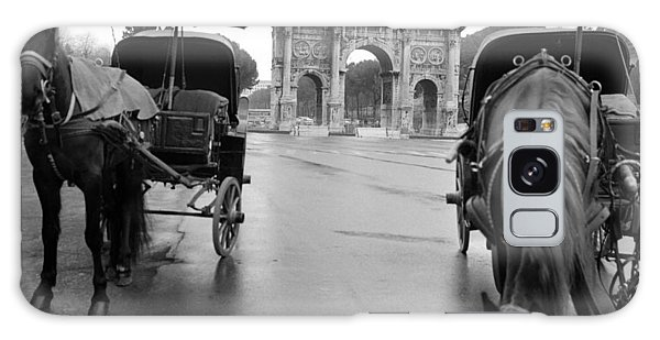 Horse Drawn Carriages In Rome Galaxy Case by Emanuel Tanjala