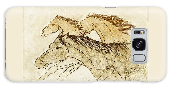 Horse Sketch Galaxy Case by Nareeta Martin