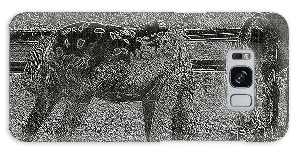 Horses Sketch Galaxy Case