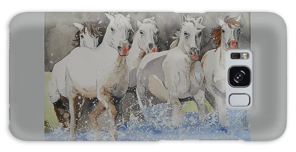 Horses Thru Water Galaxy Case