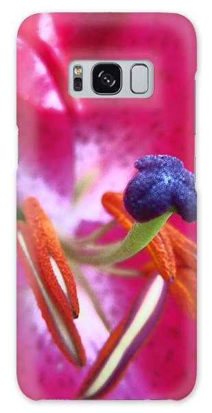 Hot Pink Lilly Up Close Galaxy Case by Kym Backland