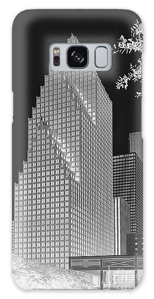 Houston Skyline - Kodak Film Bw Solarized Galaxy Case by Connie Fox