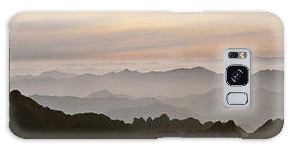 Huangshan Sunrise Panorama 1 Galaxy Case