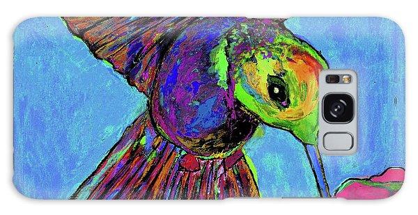 Hummingbird On Blue Galaxy Case