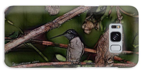 Hummingbird Waiting For Dinner Galaxy Case by EricaMaxine  Price