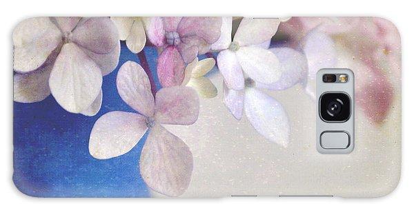Hydrangeas In Deep Blue Vase Galaxy Case