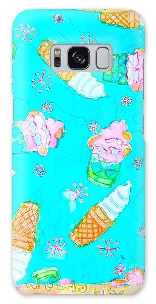 Ice Cream I Scream Galaxy Case by Beth Saffer