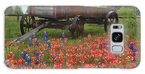 Indian Paintbrush And Wagon Galaxy Case