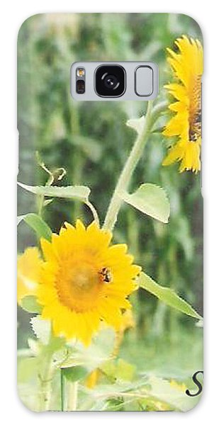 Insect On Sunflowers Galaxy Case