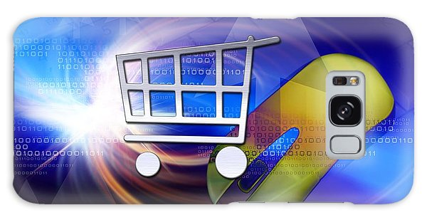 Online Shopping Cart Galaxy Case - Internet Shopping, Conceptual Artwork by Victor Habbick Visions
