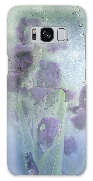 Iris In The Spring Rain Galaxy Case by Diane Schuster