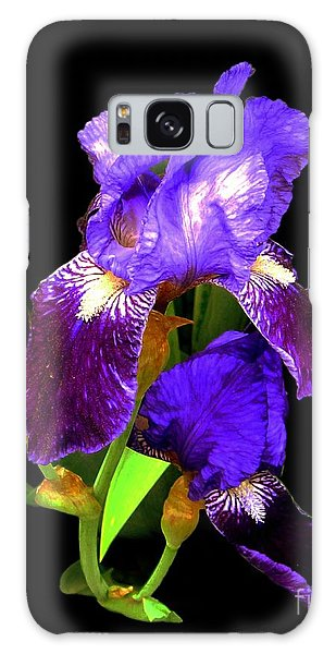 Iris On Black Galaxy Case by Dale   Ford