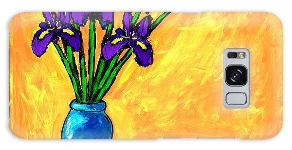 Iris On Yellow Galaxy Case