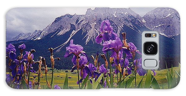 Irises In Austria Galaxy Case