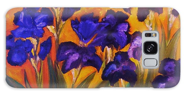 Irises In Motion Galaxy Case