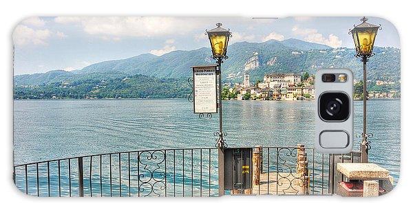 Island San Giulio On Lake Orta Galaxy Case