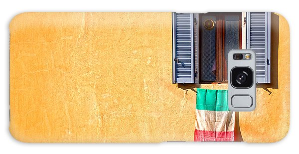 Italian Flag Window And Yellow Wall Galaxy Case