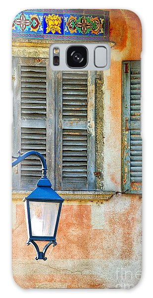 Italian Street Lamp With Window And Decorated Wall Galaxy Case