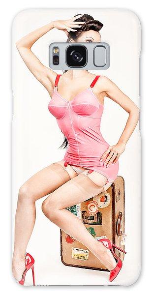 Galaxy Case featuring the photograph Jade Vixen Bubblegum 1076 by Gary Heller