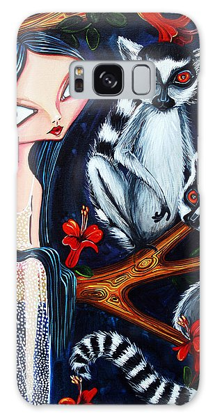 Jane And The Lemurs Galaxy Case by Leanne Wilkes