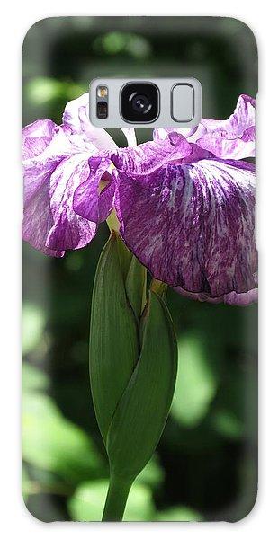 Japanese Iris Galaxy Case by Rebecca Overton