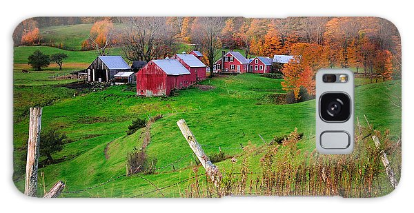 Jenne Farm-autumn Scenic From Reading Vermont  Galaxy Case