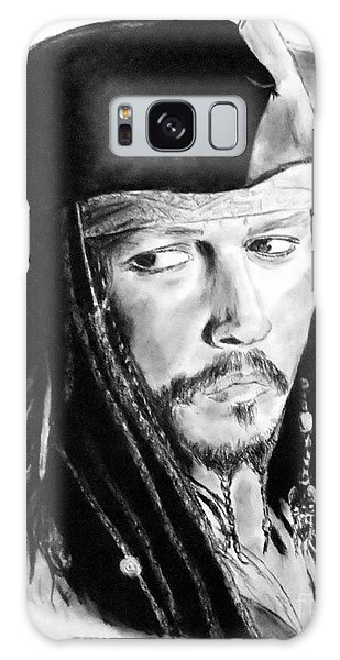 Johnny Depp As Captain Jack Sparrow In Pirates Of The Caribbean Galaxy Case