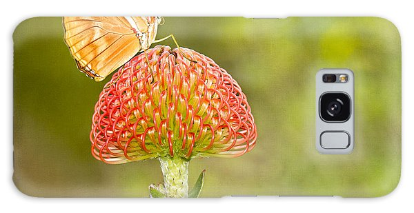 Julia Longwing Butterfly On Exotic Flower Galaxy Case