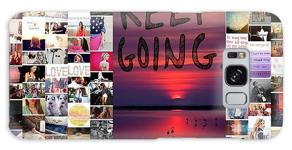 Just Keep Going Galaxy Case by Holley Jacobs