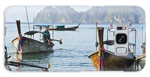 Phi Phi Island Galaxy Case - Koh Phi Phi Boats by Bill Brennan