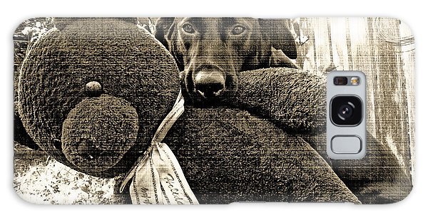 Labrador And Holiday Teddy Galaxy Case