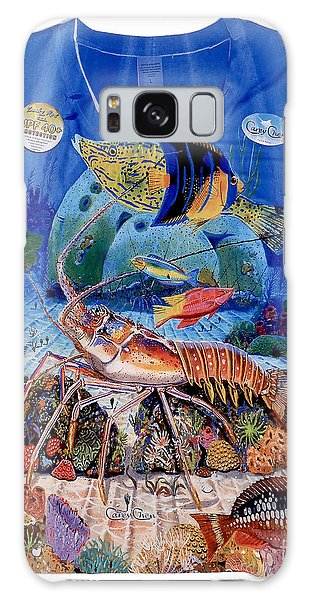 Reef Diving Galaxy Case - Ladies Lobster Reef Shirt by Carey Chen