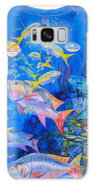 Reef Diving Galaxy Case - Ladies Mutton Snapper Shirt by Carey Chen