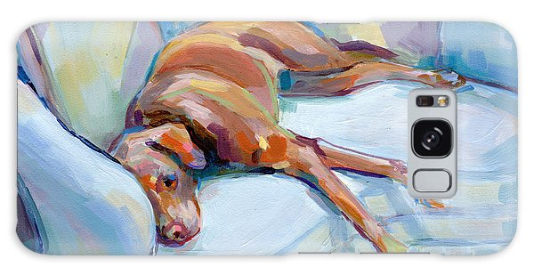 Chocolate Lab Galaxy Case - Lady In Blue by Kimberly Santini