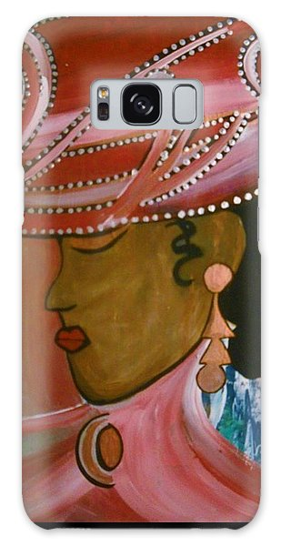Lady In Pink Galaxy Case