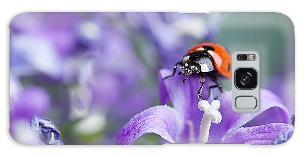 Beetle Galaxy S8 Case - Ladybug And Bellflowers by Nailia Schwarz