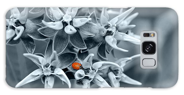Ladybug Flower Galaxy Case by Rebecca Margraf