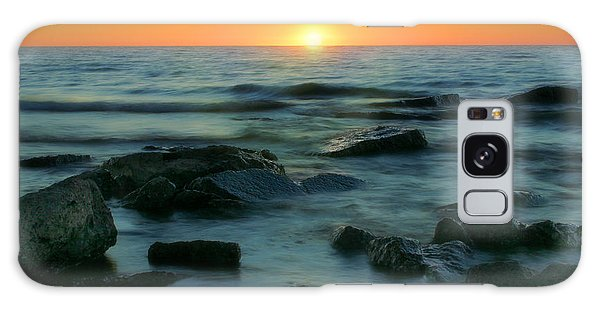 Lake Erie Sunset Galaxy Case by Cindy Haggerty
